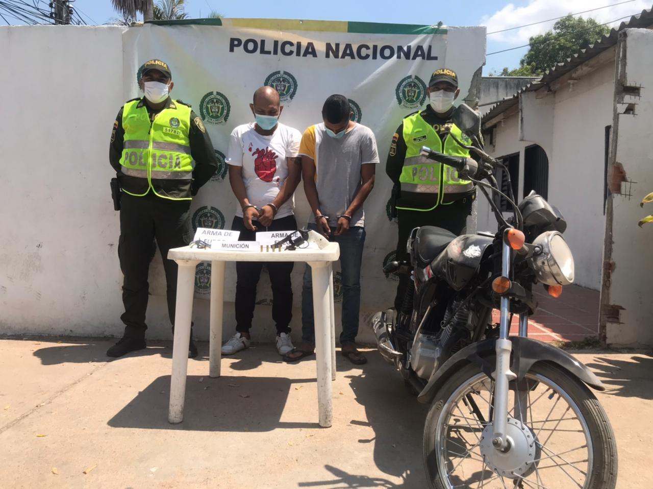 hoyennoticia.com, Pillados en Bosconia armados ilegalmente y en moto