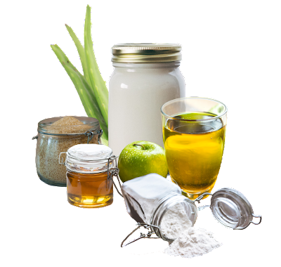 Hidratação com Vinagre de Maçã e Creme - 4 versões de receitinha com Mel, Maisena, Açúcar e Babosa