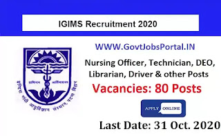 IGIMS Patna Vacancy 2020