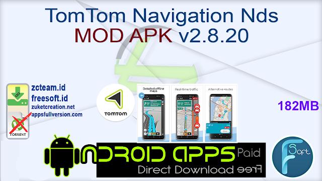 TomTom Navigation Nds MOD APK v2.8.20
