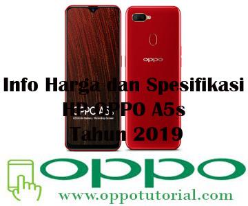 Info Harga dan Spesifikasi HP OPPO A5s Tahun 2019