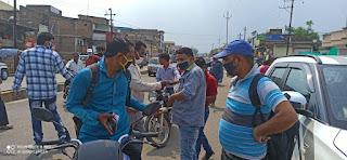 मास्क नहींलगाने वालों पर सागौर इंडोरामा के बाद पीथमपुर में हुई बड़ी कार्रवाई