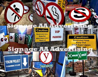 Jasa pembuatan signage | rambu petunjuk |  untuk Kantor | Hotel |  Rumah Sakit | Pabrik |  Perumahan
