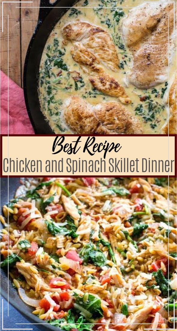 Chicken and Spinach Skillet Dinner #dinnerrecipe #food #amazingrecipe #easyrecipe