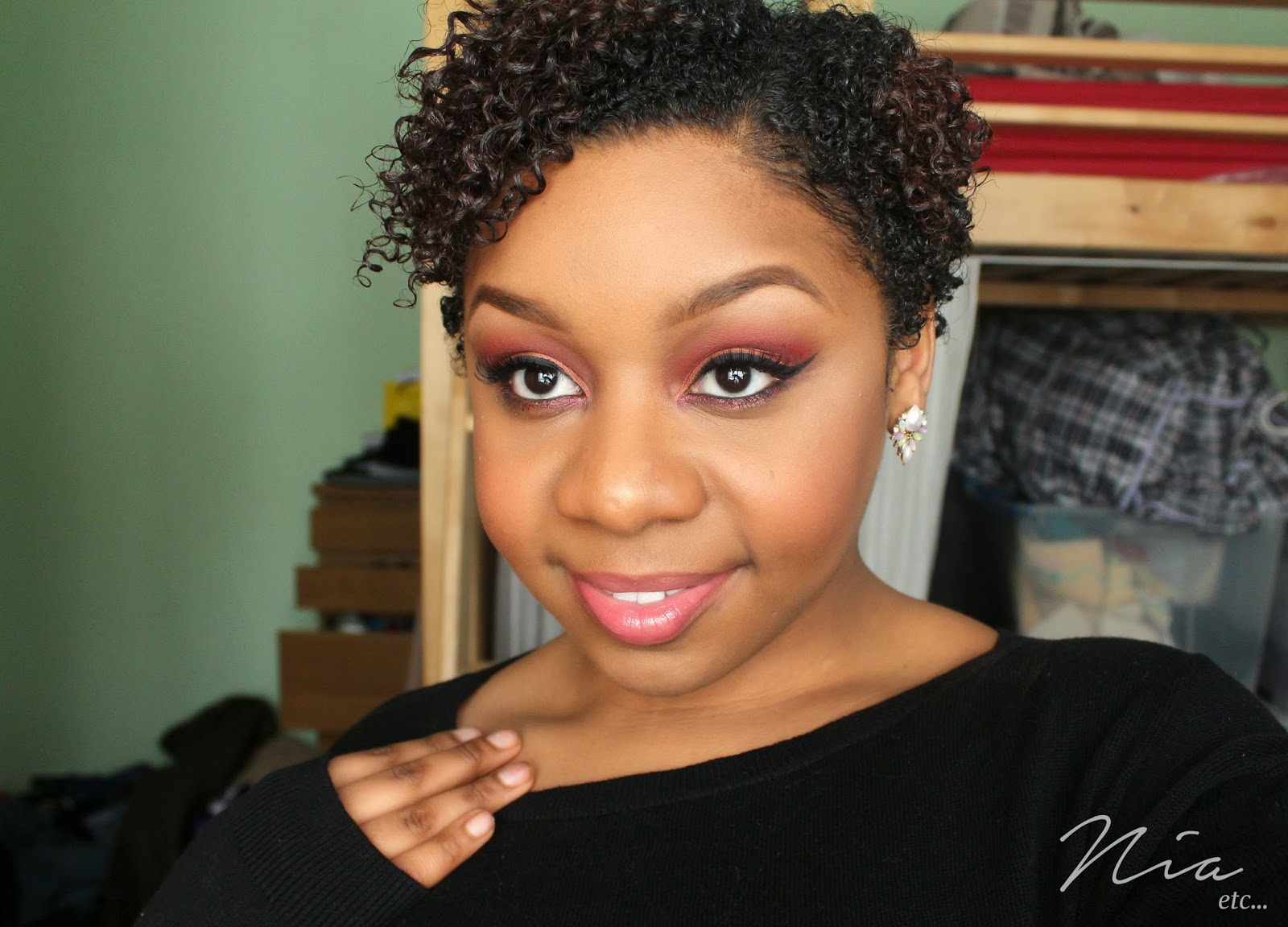 Summertime Orange and Red MakeUp Look 3