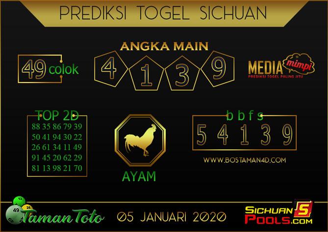 Prediksi Togel SICHUAN TAMAN TOTO 05 JANUARI 2020