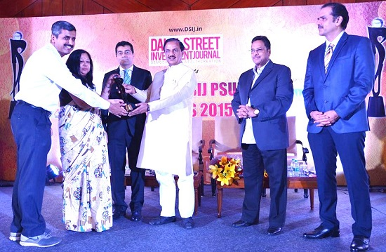 BSNL received 'DSIJ Best PSU Awards 2015' under the category of 'Highest Turnover PSU in Mini Ratna - Non Manufacturing'