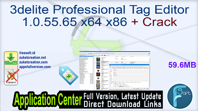 3delite Professional Tag Editor 1.0.55.65 x64 x86 + Crack