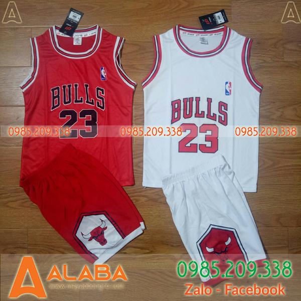 Quần áo bóng rổ Bulls trẻ em đẹp mắt