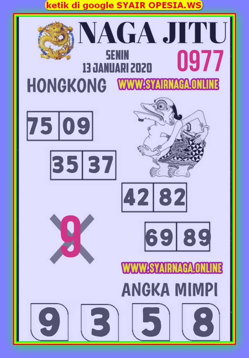 Kode syair Hongkong Senin 13 Januari 2020 105
