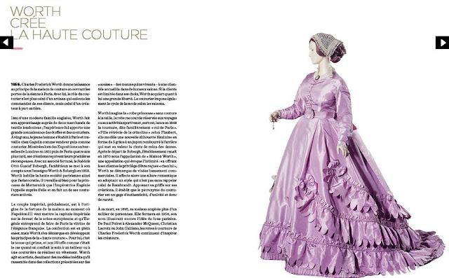 """Extrait du livre """"Paris Figure de Mode""""  (C.F Worth et Eugénie de Montijo)"""