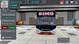 Review Livery Bus BUSSID Po Bhinneka Bimo HD + Link Download Livery BUSSID