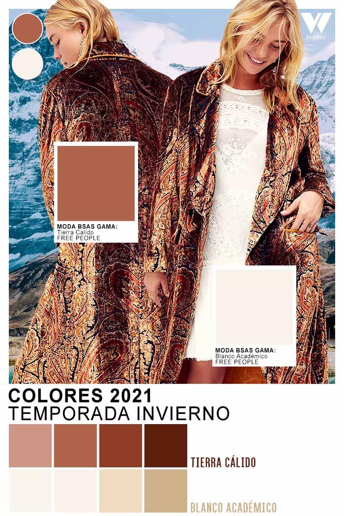Tonos tierra calido moda invierno 2021 colores de moda