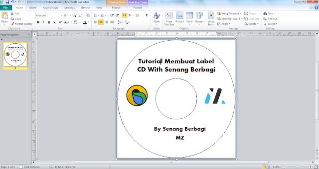 Cara Mudah Membuat Desain Label CD dengan Microsoft Publisher