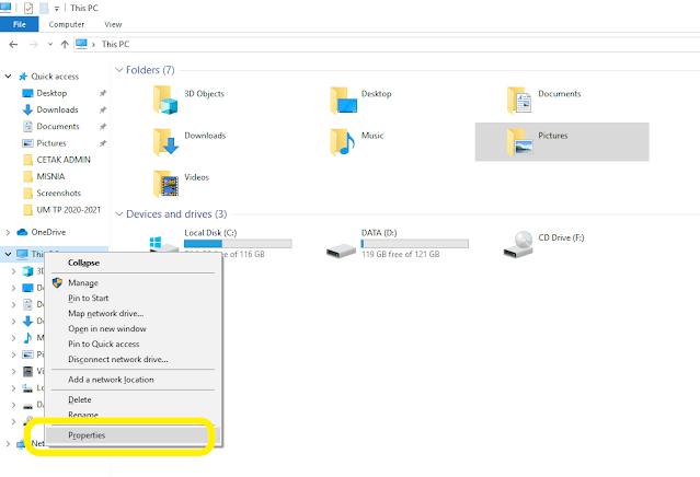 my computer properties