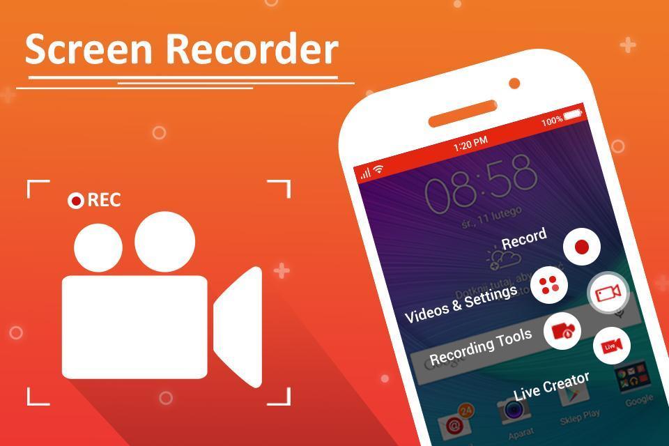 تطبيق تصوير شاشة الهاتف فيديو