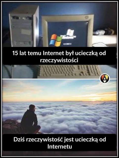 Ucieczka od rzeczywistości i ucieczka od internetu