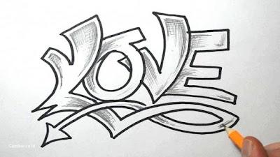 Gambar tulisan love keren