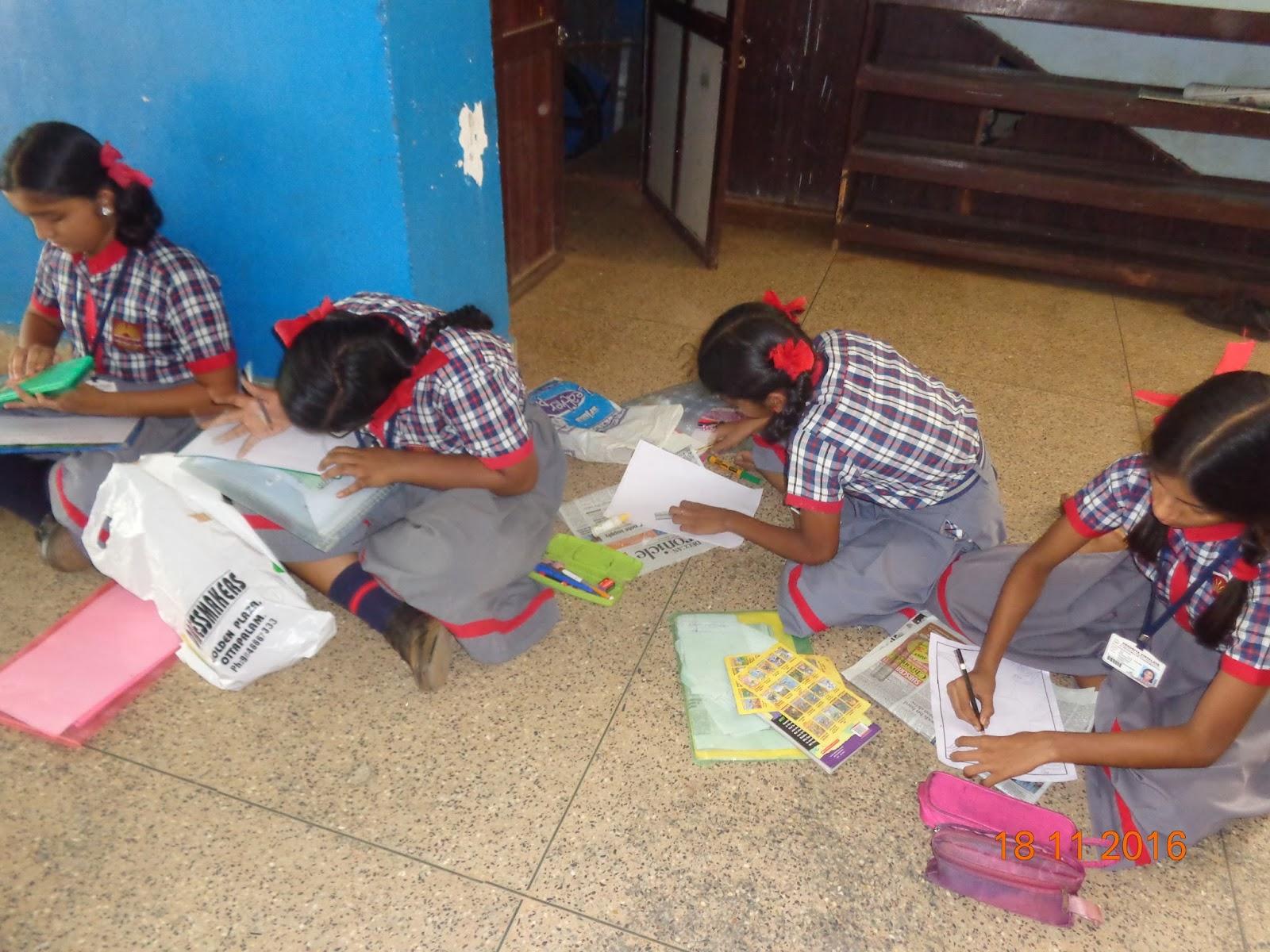 Kendriya Vidyalaya Ottapalam Library Cover Page Designing