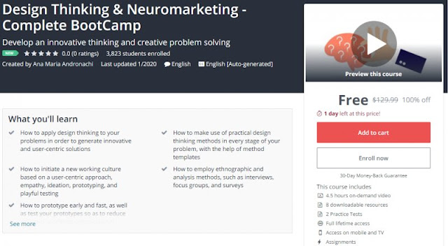 [100% Off] Design Thinking & Neuromarketing - Complete BootCamp Worth 129,99$