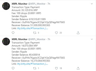 Transfer Ripple Hampir 100 Mln XRP