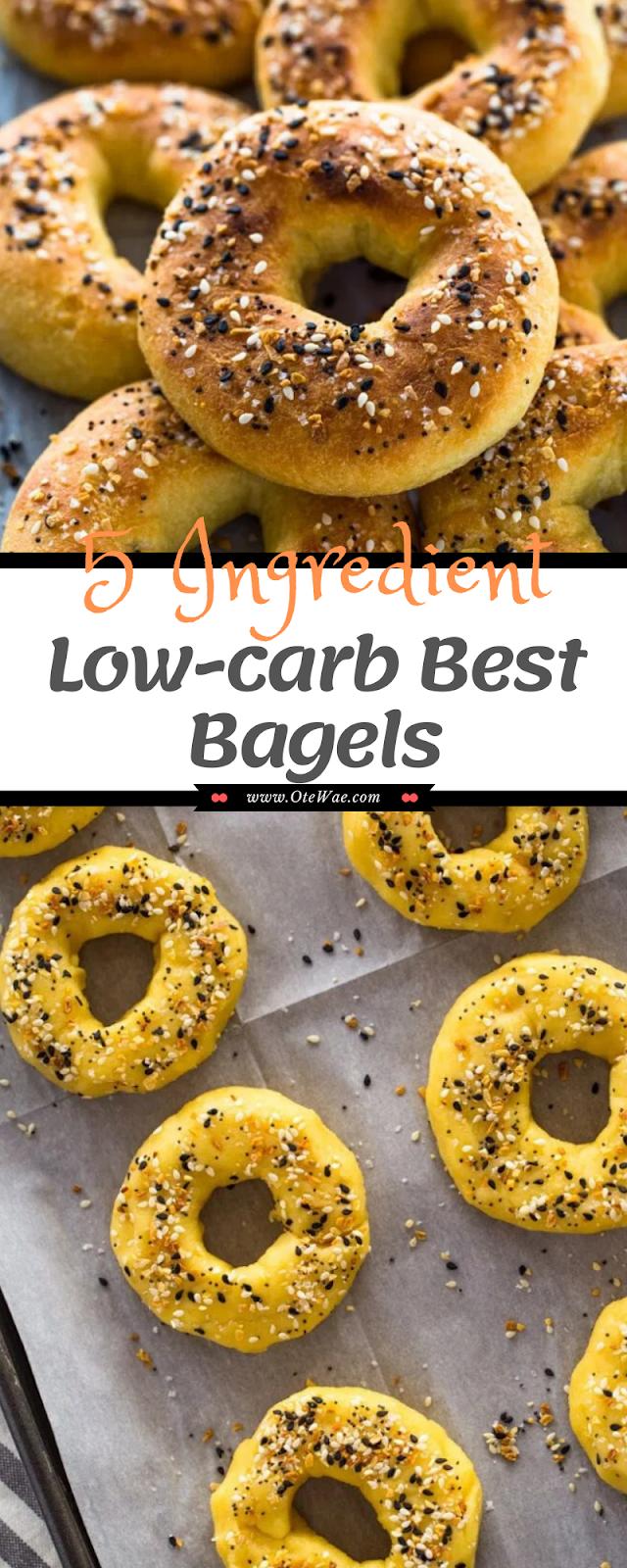 5 Ingredient Low-carb Best Bagels