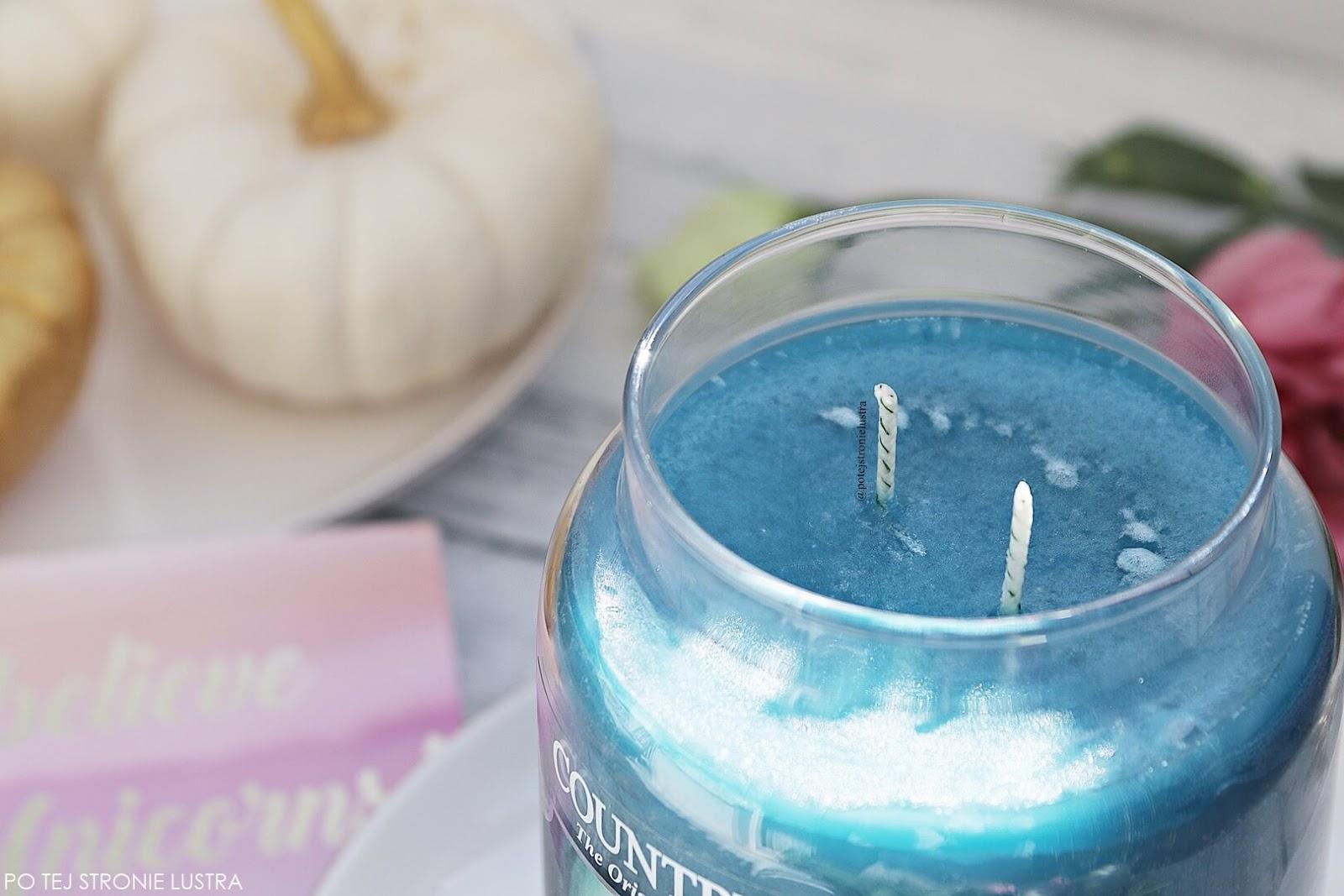 knoty świecy country candle unicron poop wyglądajęce jak róg jednorożca