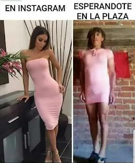 Mujer con traje bonito vs hombre con traje de mujer