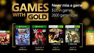 Xbox Live Gold - משחקי החינם לחודש אוגוסט נחשפו