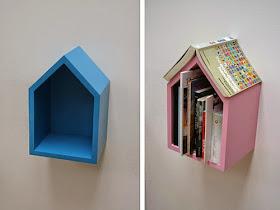Ideias criativas e diferentes para colocar os livros | Dani