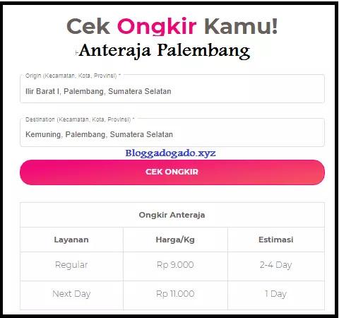 Anteraja Palembang Alamat Nomor Telepon Cara Daftar Bloggadogado