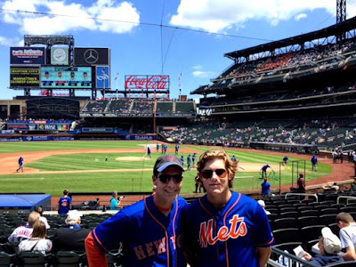 me and the boy at citi field mets