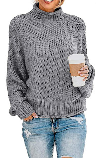 oversized gray sweater