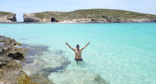 Laguna Azul o Blue Lagoon, Comino, Malta.
