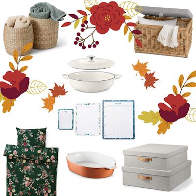 Tchibo, damazprowincji blog, jesień w domu, przegląd sieciówek, jesienne zakupy,dekoracyjne dodatki, zestaw, whislista jesień