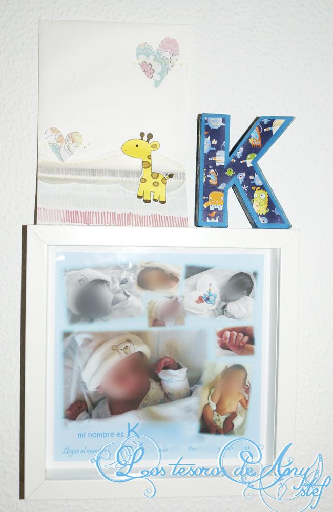 Los tesoros de Any Stef: Lámina de nacimiento con fotos