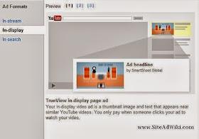 YouTube Advertising TrueView InDisplay