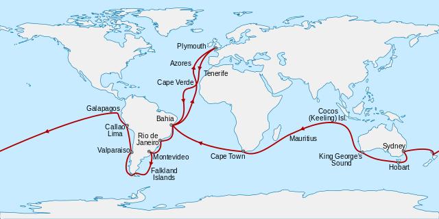jalur pelayaran hms beagle