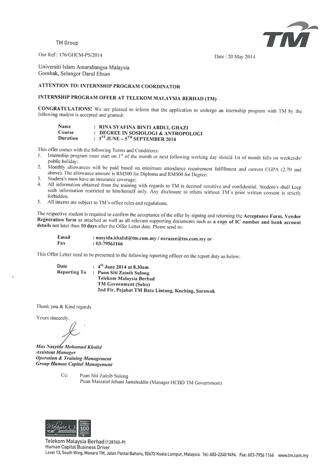 internship acceptance letter format from company to students 2019 , internship acceptance letter format from company to students, internship acceptance letter format from company 2020, internship letter format from company to students,