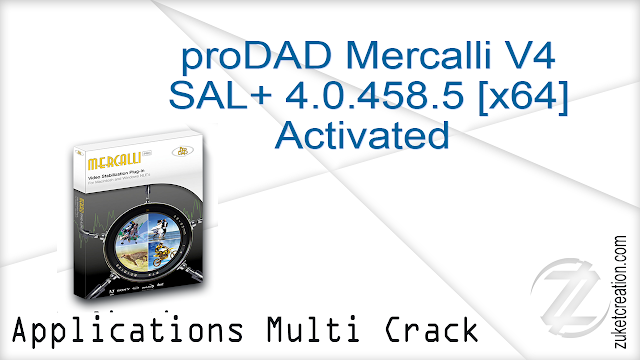 proDAD Mercalli V4 SAL+ 4.0.458.5 [x64] Activated  |   92.8 MB