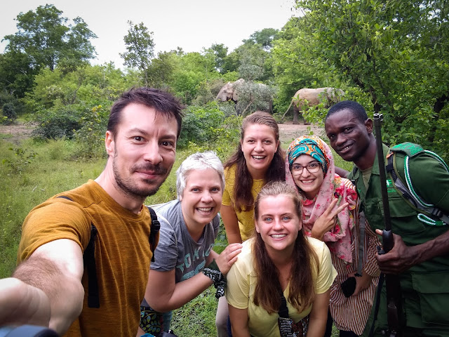 New friends (and elephants) in Mole National Park, Ghana