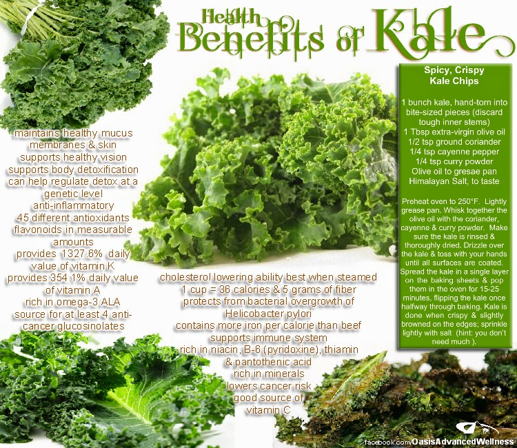 What are the nutritional benefits of kale