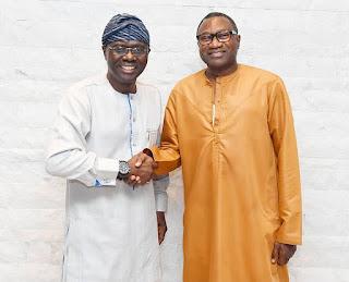 Babajide Sanwo-Olu and Femi Otedola