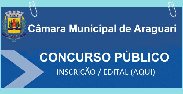 Concurso Câmara de Araguari mg 2018 (Inscrição-Edital)