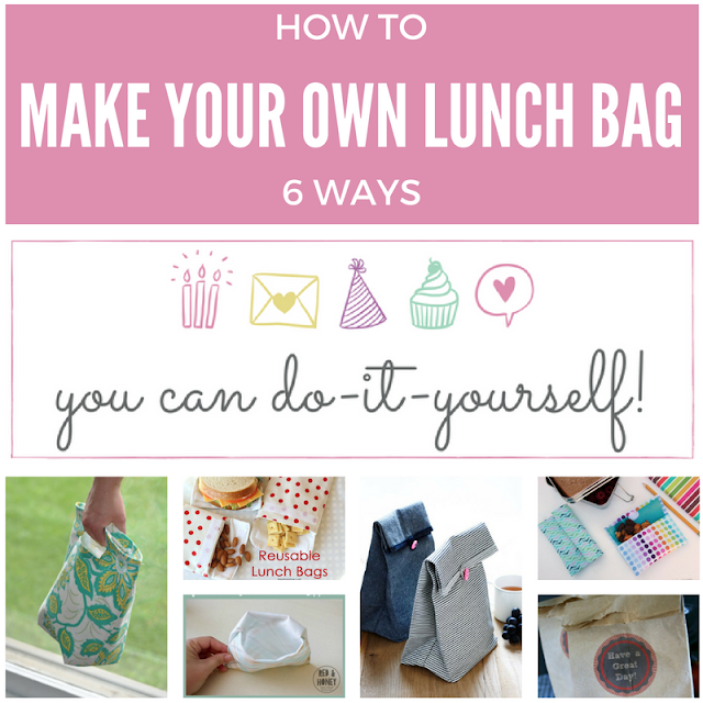 How to make your own lunch bag - six ways