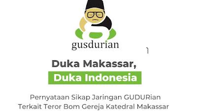 Teror Bom di Gereja Katedral Makassar, Ini Pernyataan Seknas GUSDURian