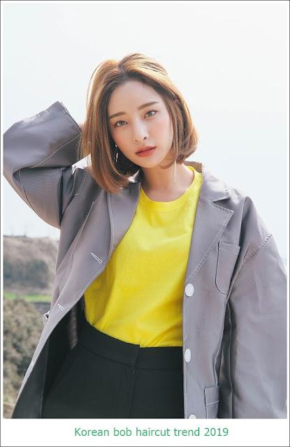 Korean bob haircut trend 2019