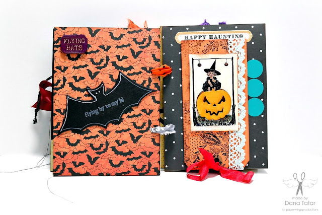 Dead Zone Halloween Mini Album Page 7 by Dana Tatar for Paper Wings Productions