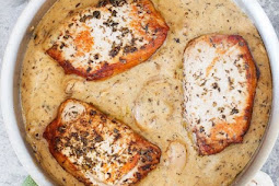 Browned Butter Pork Chops with Mushrooms
