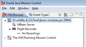 Running Java Mission Control and Flight Recorder against WildFly and EAP